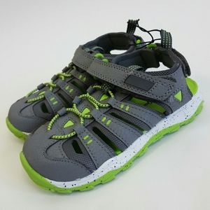 Toddler Boys/' Howell Hiking Sandals Cat /& Jack  Gray /& Green Size 5